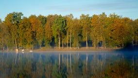 Barche su una riva del lago Fotografie Stock