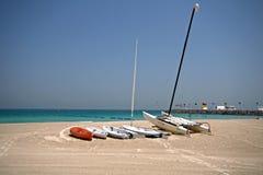 Barche su una spiaggia Fotografia Stock