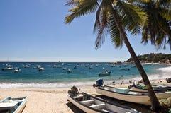 Barche su una spiaggia, Messico Fotografia Stock Libera da Diritti
