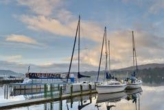 Barche su Windermere Immagini Stock