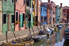 Barche sul canale Fotografie Stock Libere da Diritti