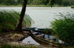 Barche sul fiume immagini stock libere da diritti