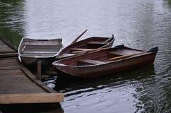 Barche sul fiume Fotografie Stock
