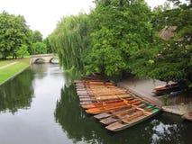 Barche sul fiume a Cambridge Fotografia Stock Libera da Diritti