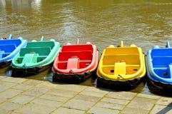 Barche sul fiume Dee a Chester immagini stock libere da diritti