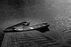Barche sul herastrau Romania del lago Immagine Stock