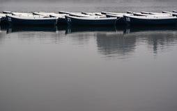 Barche sul lago Fotografie Stock