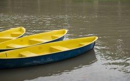 Barche sul lago Fotografia Stock
