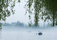 Barche sul lago ad ovest Fotografie Stock Libere da Diritti