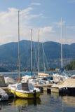 Barche sul lago Como fotografia stock libera da diritti