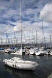 Barche sul lago Ginevra Fotografia Stock