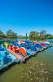 Barche sul legno di Palermo a Buenos Aires, Argentina fotografie stock libere da diritti