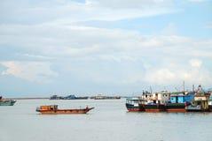 Barche sul mare Immagini Stock Libere da Diritti