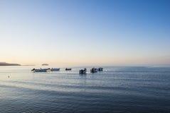 Barche sul mare Fotografia Stock