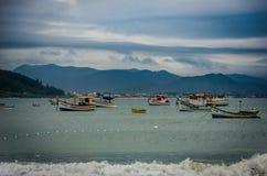 Barche sul mare Fotografia Stock Libera da Diritti