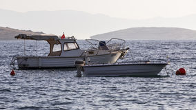 Barche sul mare Immagine Stock