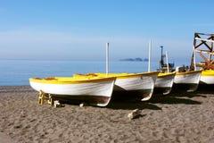 Barche sul Mediterraneo Fotografia Stock