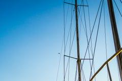 Barche sul tramonto del fiume Fotografia Stock Libera da Diritti