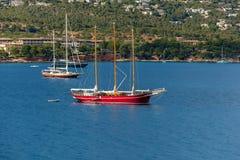 Barche sull'acqua Immagine Stock Libera da Diritti