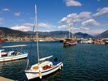 Barche sull'acqua Fotografia Stock Libera da Diritti