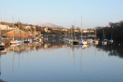 Barche sulla costa di Galles Fotografia Stock Libera da Diritti