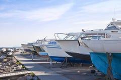 Barche sulla riva Fotografia Stock Libera da Diritti