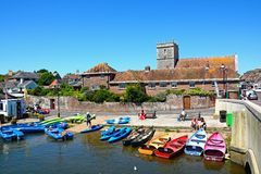 Barche sulla riva, Wareham Fotografie Stock