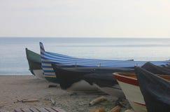 Barche sulla sabbia Immagini Stock Libere da Diritti