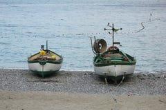 Barche sulla sabbia Fotografie Stock