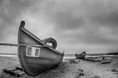 Barche sulla spiaggia Fotografie Stock Libere da Diritti