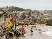 Barche sulla spiaggia al litorale del capo Fotografie Stock