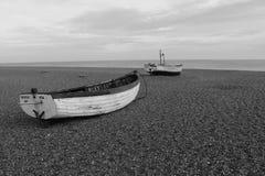 Barche sulla spiaggia di Southwold Immagini Stock