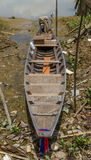 Barche sulla terra Fotografie Stock