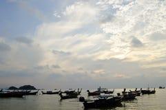 Barche tailandesi tradizionali Fotografia Stock Libera da Diritti