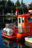 Barche in Tobermory Fotografia Stock Libera da Diritti