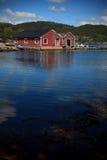 Barche in un porto, Norvegia Fotografia Stock Libera da Diritti