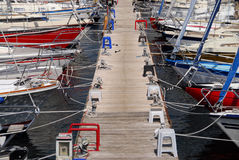Barche a vela Fotografie Stock