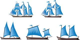 Barche a vela immagine stock