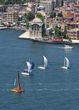 Barche a vela a Bosphorus, Costantinopoli Fotografia Stock Libera da Diritti