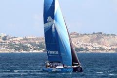 Barche a vela della corsa dell'oceano di Volvo nella corsa Immagine Stock Libera da Diritti