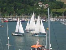 Barche a vela, Devon Fotografie Stock