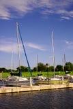 Barche a vela di Hefner del lago Immagine Stock