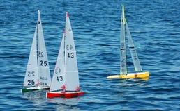 Barche a vela di modello Fotografie Stock Libere da Diritti