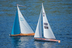 Barche a vela di modello Fotografie Stock