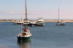 Barche a vela e yacht fuori sull'isola di blocco, 15 settembre 2012 Fotografia Stock