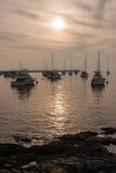 Barche a vela Marina Punta del Este Uruguay Immagine Stock Libera da Diritti
