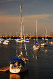 Barche a vela messe in bacino Fotografia Stock Libera da Diritti