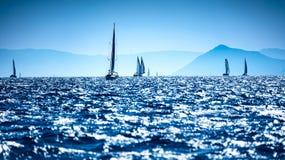 Barche a vela nel mare Fotografia Stock Libera da Diritti