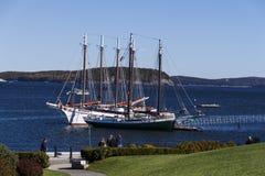 Barche a vela nel porto di Antivari, U.S.A., 2015 Fotografia Stock Libera da Diritti