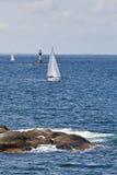 Barche a vela nell'arcipelago immagini stock libere da diritti